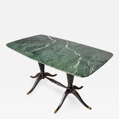 Paolo Buffa Coffee Table by Paolo Buffa in Marble and Mahogany 1950s