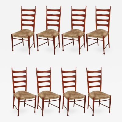 Paolo Buffa Eight Dining Chairs by Paolo Buffa