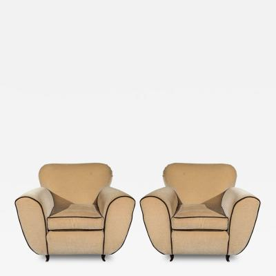 Paolo Buffa Elegant Art Deco Armchairs by Paolo Buffa