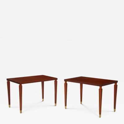 Paolo Buffa Elegant Pair of Side Tables by Paolo Buffa