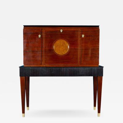 Paolo Buffa Fine Midcentury Trumeau Bar Cabinet Attr to Paolo Buffa 1950