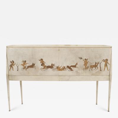 Paolo Buffa Italian Mid Century 1930s Sideboard Bar Cabinet