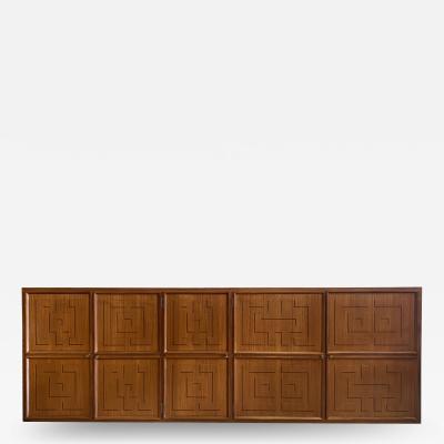 Paolo Buffa Italian Modern Fruitwood Parquetry Inlaid Cabinet Paolo Buffa