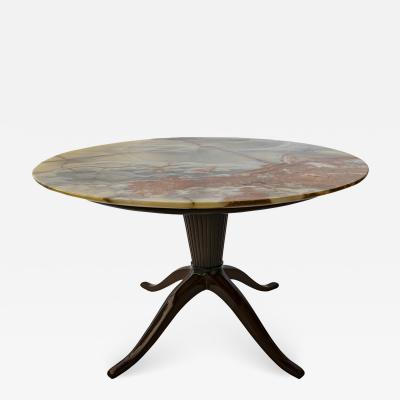 Paolo Buffa Italian Modern Round Onyx Top Table