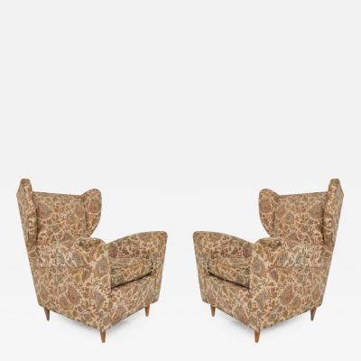 Paolo Buffa Mid Century Modern Arm Chairs by Paolo Buffa