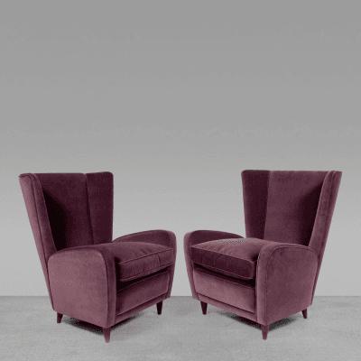 Paolo Buffa Original Lounge Chairs by Paolo Buffa