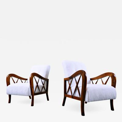 Paolo Buffa Pair Of Armchairs In The Style Of Paolo Buffa