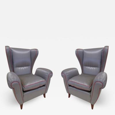 Paolo Buffa Pair of 1960s Italian Wing Chair Paolo Buffa Style Mid Century Modern