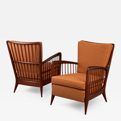 Paolo Buffa Pair of Armchairs Italy ca 1940