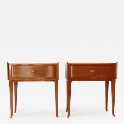 Paolo Buffa Pair of Bedside Tables inCherry wood