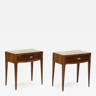 Paolo Buffa Pair of Elegant Nightstands by Paolo Buffa