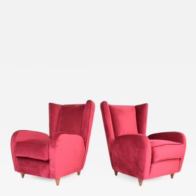 Paolo Buffa Pair of Italian Mid Century Armchairs by Paolo Buffa 1950s
