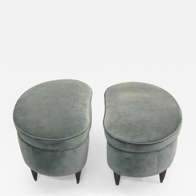 Paolo Buffa Pair of Italian Modern Neoclassical Stools or Benches by Paolo Buffa