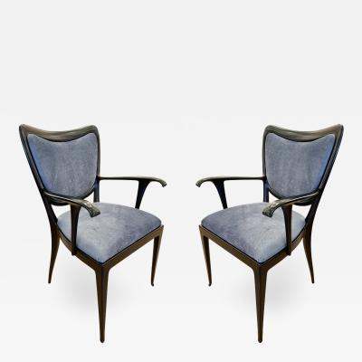 Paolo Buffa Pair of Paolo Buffa Armchairs Italy 1940s