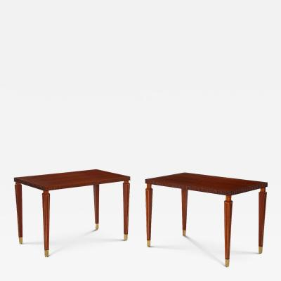Paolo Buffa Pair of Side Rosewood Tables by Paolo Buffa