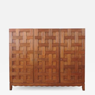 Paolo Buffa Paolo Buffa 1940s Oak Wood Cupboard Italy