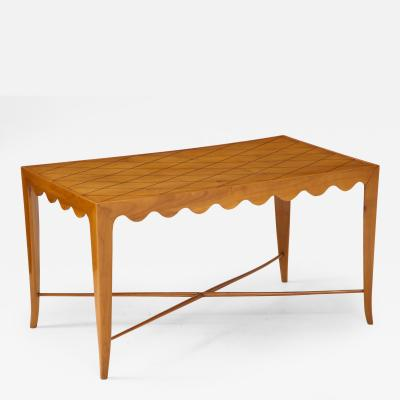 Paolo Buffa Paolo Buffa Coffee table with Scalloped Apron Italy c 1950