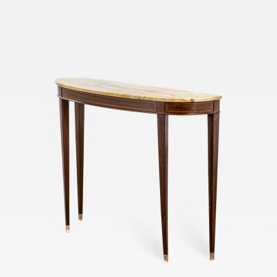 Paolo Buffa Paolo Buffa Console in Wood top in Marble and details in Brass 50s