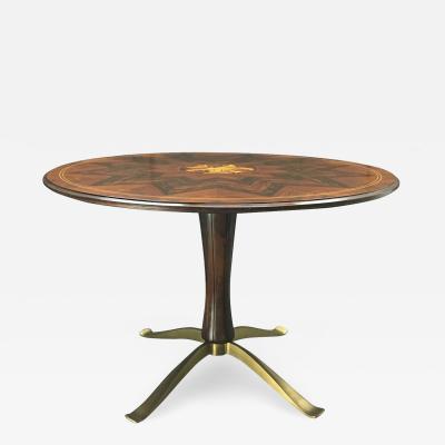 Paolo Buffa Paolo Buffa Dining Table with Intarsia work by Giovanni Gariboldi