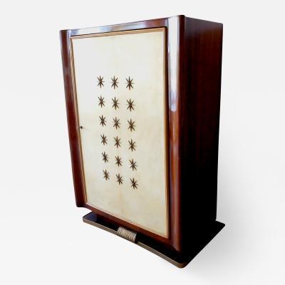 Paolo Buffa Paolo Buffa Italian Mid Century Modern Wooden Bar Cabinet 1950s