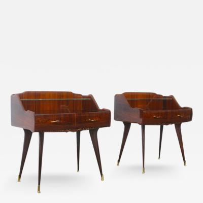 Paolo Buffa Paolo Buffa Pair of Stunning Italian Nightstands
