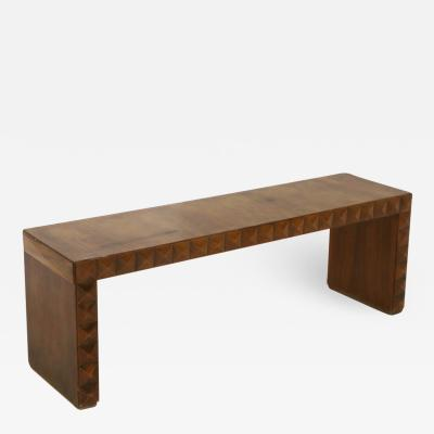 Paolo Buffa Paolo Buffa Rare Italian Bench in Walnut in Technique 1940s