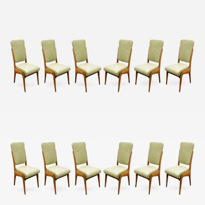 Paolo Buffa Paolo Buffa Set of 12 Hand Crafted Dining Chairs ca 1940
