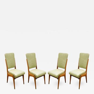 Paolo Buffa Paolo Buffa Set of 4 Hand Crafted Dining Game Chairs ca 1940