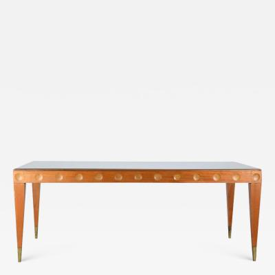 Paolo Buffa Paolo Buffa important 1950s dining table in cherry wood