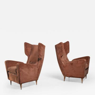 Paolo Buffa Paolo Buffa pair of lounge chairs Italy 1950s