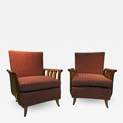 Paolo Buffa Phenomenal Pair of Italian Art Deco Chairs in the manner of Paolo Buffa