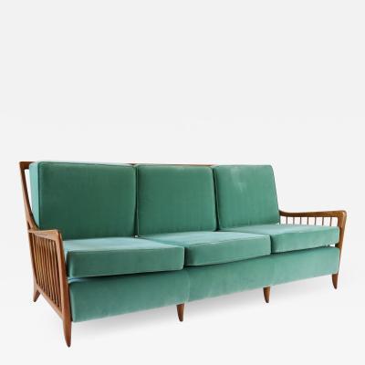 Paolo Buffa Rare Large Paolo Buffa Cherrywood Green Sofa 1940