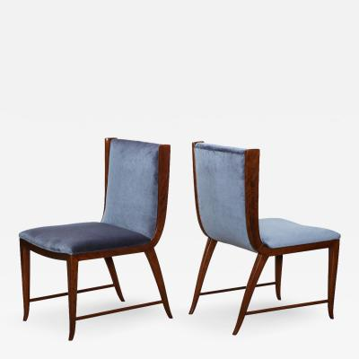 Paolo Buffa Rare Pair of Side Chairs by Paolo Buffa