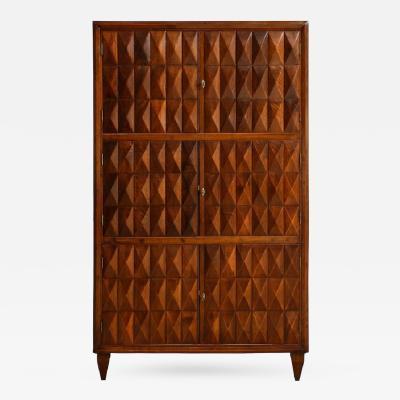 Paolo Buffa Sculptural Wood Cabinet
