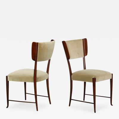 Paolo Buffa Set of 6 Dining Chairs by Paolo Buffa