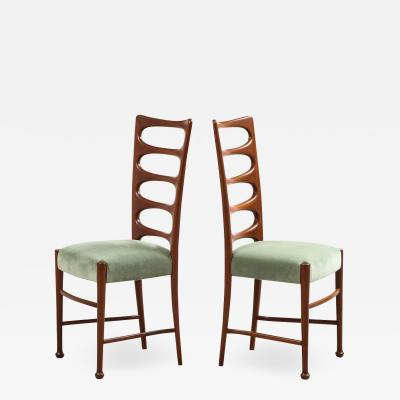 Paolo Buffa Set of 6 Dining Chairs by Paolo Buffa