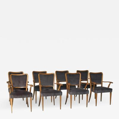 Paolo Buffa Set of 8 Dining Chairs Attributed to Paolo Buffa
