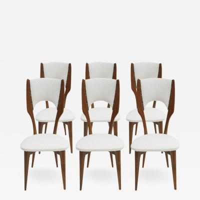 Paolo Buffa Set of Six Chairs Designed by Paolo Buffa