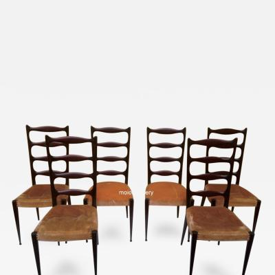 Paolo Buffa Set of Six Paolo Buffa High Back Chairs
