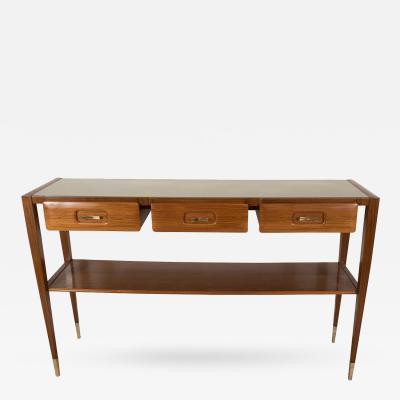 Paolo Buffa Three Drawer Modern Wood Console by Paolo Buffa