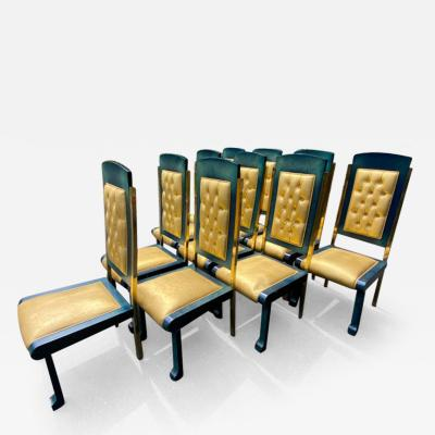 Paolo Gucci RARE MAGNIFICIENT OPULENT SUITE OF TEN DINING CHAIRS DESIGNED BY PAOLO GUCCI