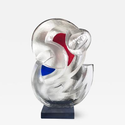 Paolo Marazzi Glass Figurative Abstract Sculpture