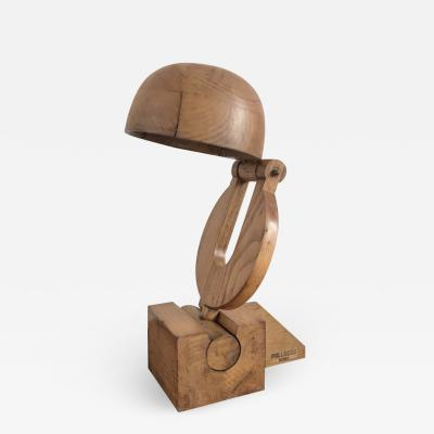 Paolo Pallucco Rare Articulated lamp in Wood