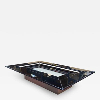 Paolo Piva Mid Century Modern Wooden Table Travertine Marble Base By Paolo Piva Quadro B B