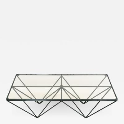 Paolo Piva Paolo Piva Glass Top and Metal Base Coffee Table Italy 1970s