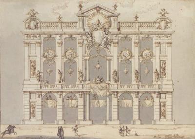 Paolo Posi Design for a Temporary Fa ade possibly for the Festa della Chinea of 1766