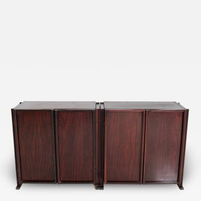 Paolo Sormani Pair of Sormani sideboards in fine wood 1950s