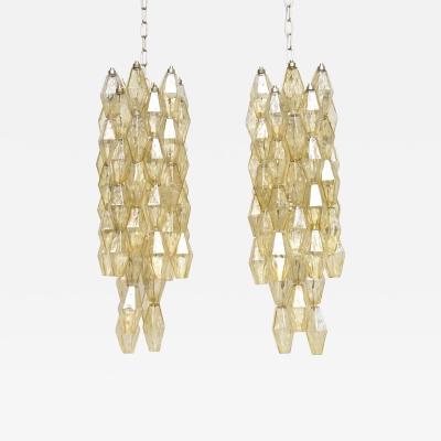 Paolo Venini A pair mid century Murano chandeliers by Carlo Scarpa for Venini