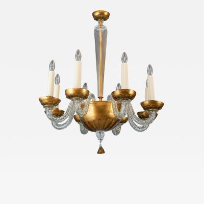 Paolo Venini Exceptional Murano Glass Chandelier By Paolo Venini ca 1940