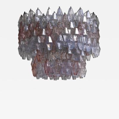 Paolo Venini Large Paolo Venini Murano Glass Poliedri Chandelier